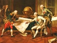 Louis XVI donnant des instructions à La Pérouse. Nicolas André Monsiau, Château de Versailles.1817.