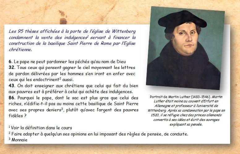 DOC 1 – Extrait des 95 thèses de Martin Luther, Octobre 1917