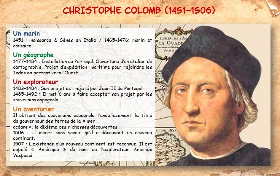 DOC 1 -  Qui est Christophe Colomb ?
