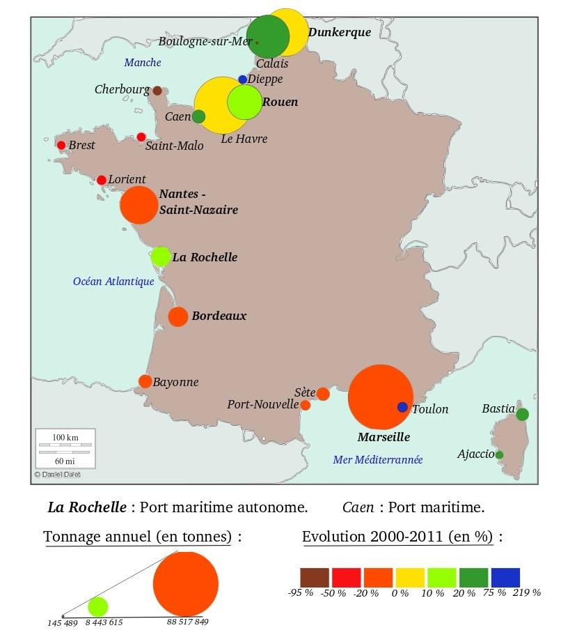 DOC 5 – Trafic maritime portuaire en France en 2011
