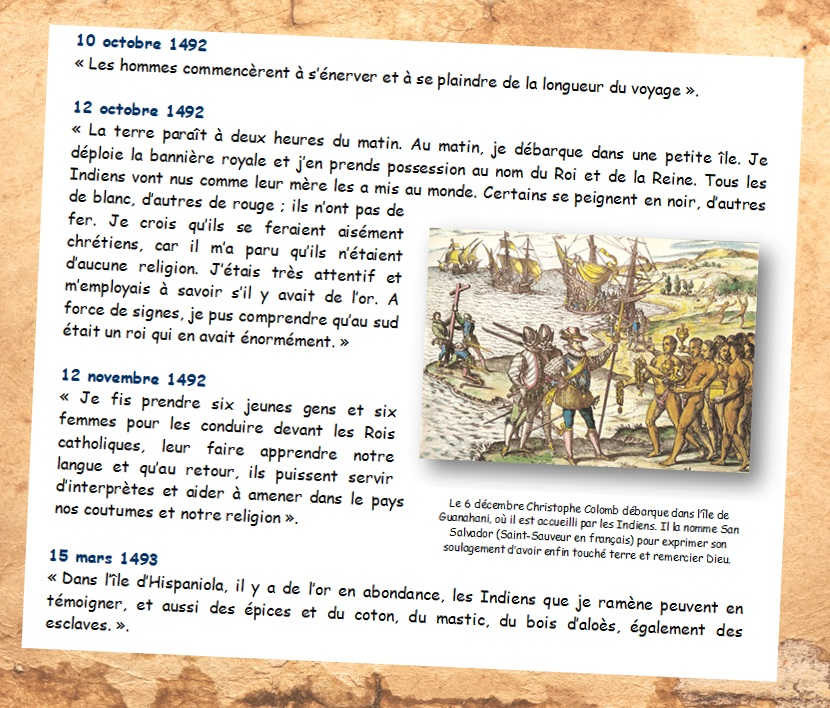 DOC 6-  Journal de bord de Christophe Colomb