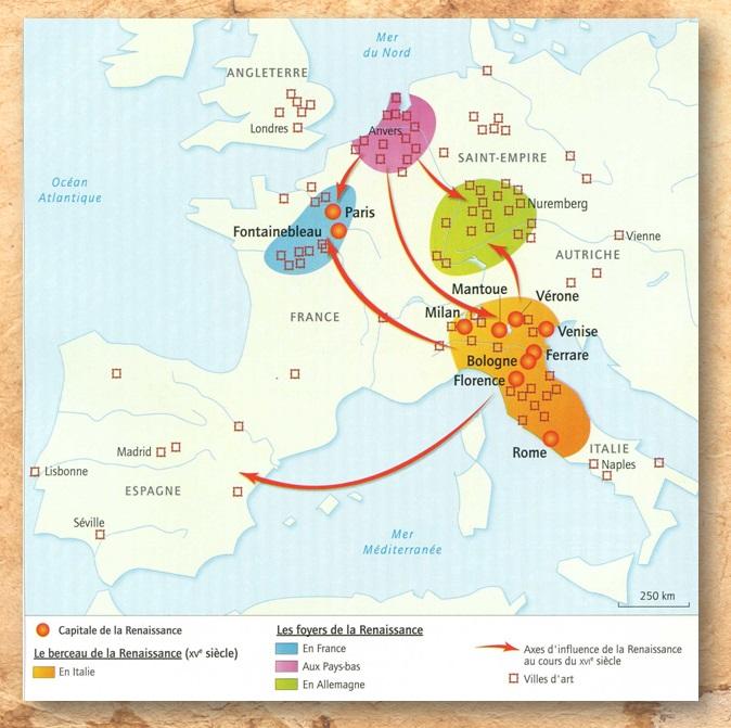 DOC 6 – La diffusion de la Renaissance en Europe