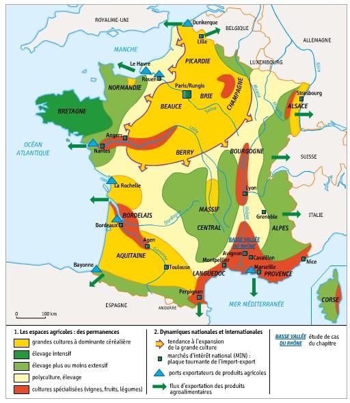 Activite 1 Decrire Un Espace Productif Agricole En border=