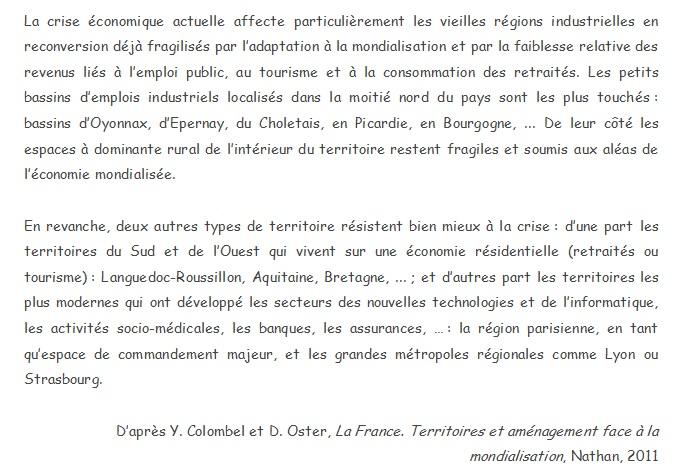 DOC 7 – Crise économique et contrastes territoriaux