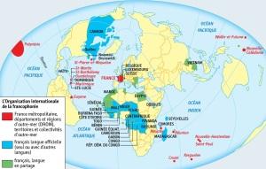 DOC 3 – La francophonie dans le monde. Créée en 1970, l'Organisation Internationale de la Francophonie (OIF) compte 75 états représentants environ 220 millions de francophones.