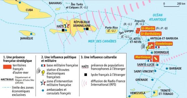 DOC 1 – L'influence de la France dans l'espace Caraïbe