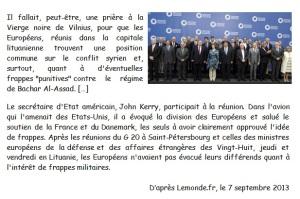 DOC 5 – L'Union européenne en manque d'unité dans le conflit syrien