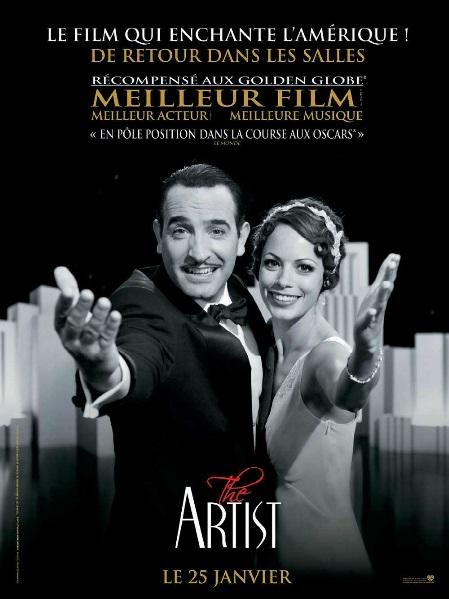DOC 5 – Affiche du film français The Artist primé en 2012 au festival de Cannes, aux César, aux Golden Globes et aux Oscars.