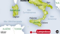 Localisation de l'île de Lampedusa