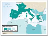 Des inégalités de développement entre les deux rives de la Méditerranée