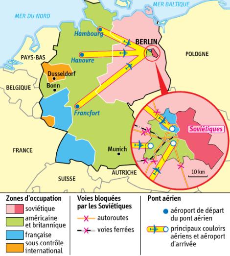 Le blocus de Berlin Ouest (1948-1949)