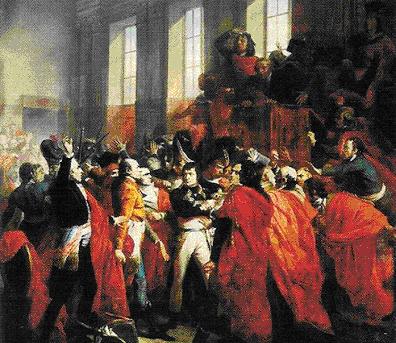 Doc 3 - Le coup d'Etat du 18 brumaire an VIII, F. Bouchot, 1835, musée du château de Versailles.