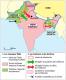 Doc 11 : La naissance de deux états (carte), manuel Hatier 2012