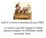 Doc 3 : Le cochon Louis XVI ramené à l'étable, gravure anonyme, fin XVIIIe siècle, musée Carnavalet, Paris