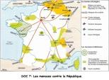 Doc 7 : La République menacée (carte)