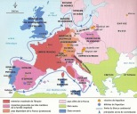 Doc 4 : Carte de l'Europe en 1811.