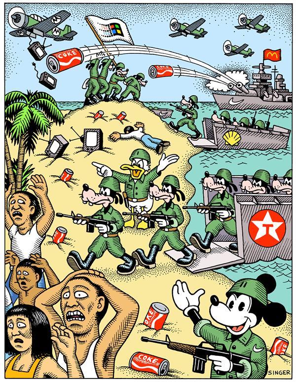 Parcours 2 la puissances des etats unis par l analyse d une caricature la classe d 39 histoire for Dessin ville orientale