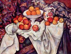 Paul Cézanne, Nature morte aux pommes et aux oranges, 1895-1900, huile sur toile, 73 x 92 cm, Musée d'Orsay, Paris.