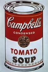 Campbell Soup Cans (détail), A. Warhol, 1962, 32 toiles acryliques peintes en sérigraphie, MoMA, New York