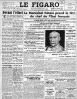 """Doc5 B, Une de """"Le Figaro"""", 12 Juillet 1940"""
