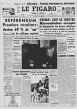 Référendum #2 : « Approuvez-vous le projet de loi soumis au peuple français par le président de la République et relatif à l'élection du président de la République au suffrage universel ? »